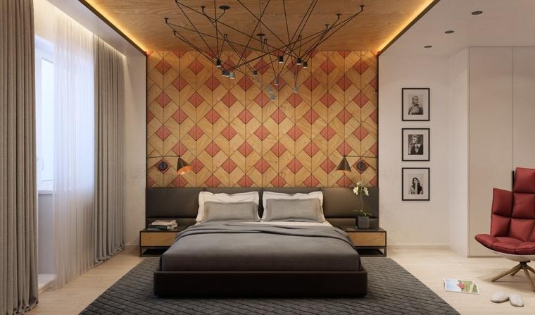 paredes de madera diseño bicolor