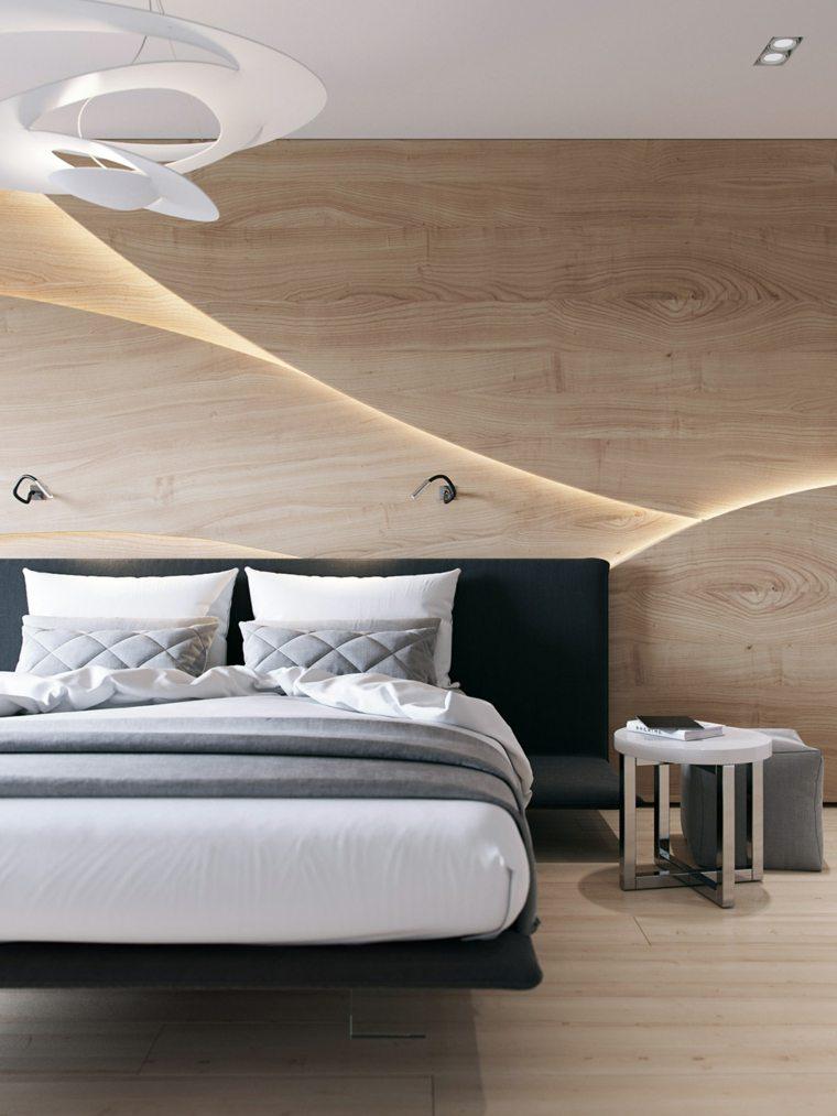 paredes de madera dormitorio