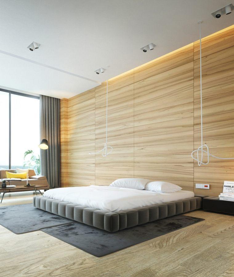 paredes de madera patrón natural