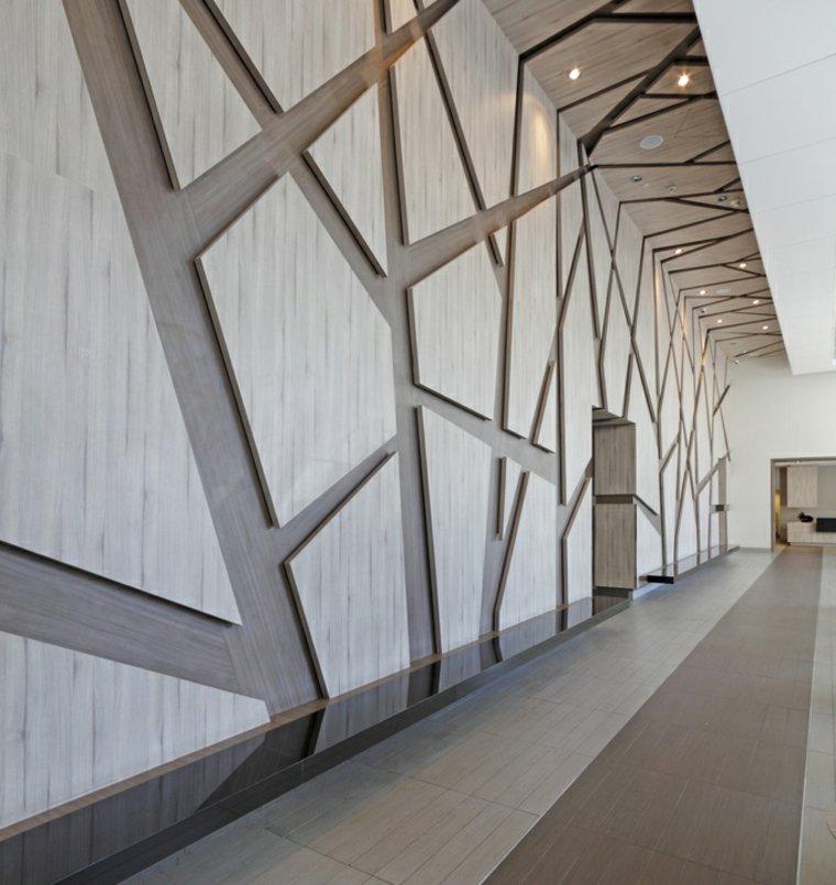 paredes de madera patron geométrico