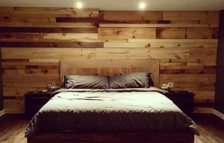 paredes de madera textura natural