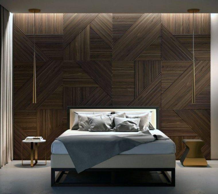paredes-decoradas con madera diseño