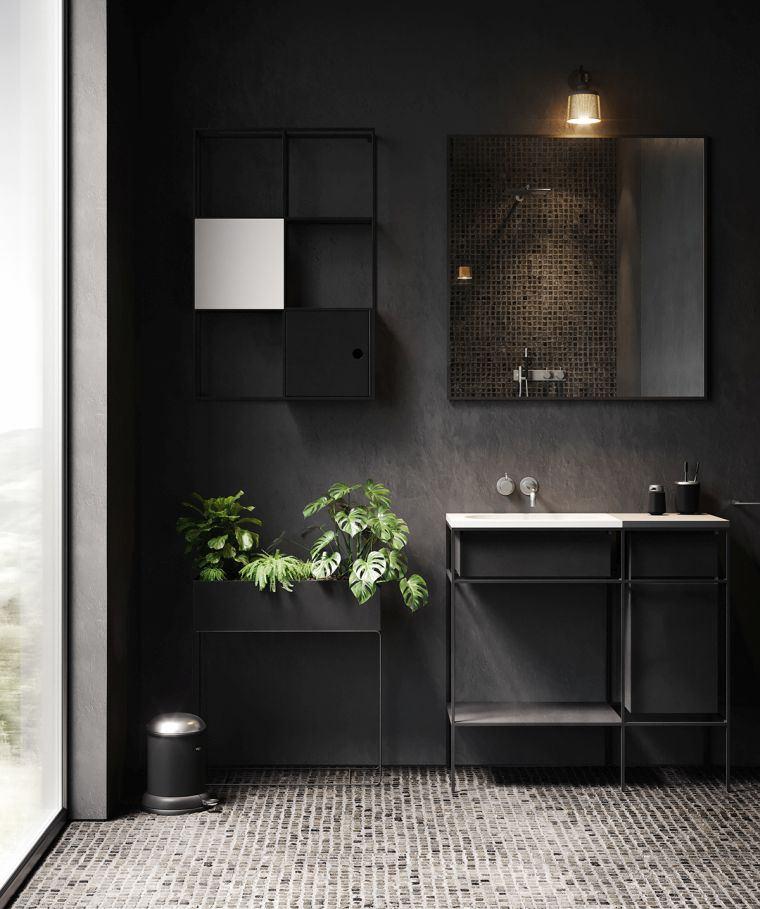 pintura-negra-bano-ideas-estilo
