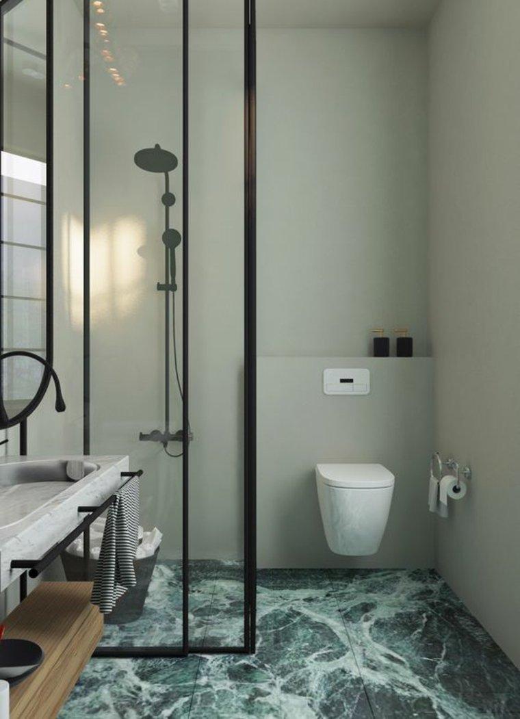 piso de mármol verde