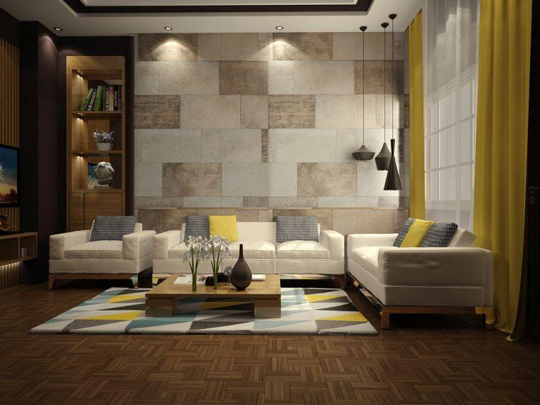 revestimiento paredes interiores-piedras-pared