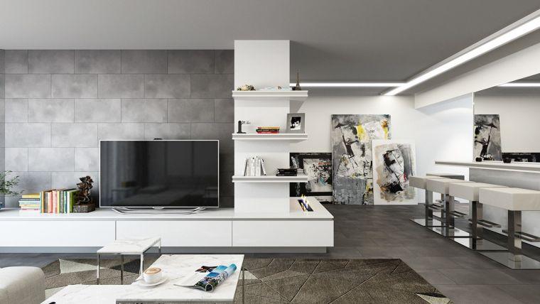 revestimiento paredes interiores-textura-salon
