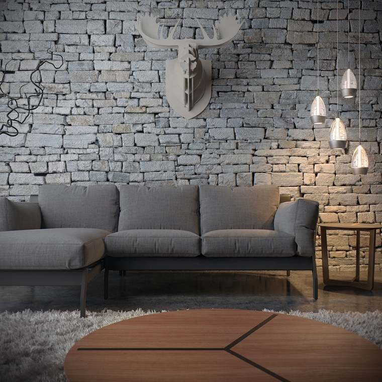 sala-pequena-ideas-pared-piedra