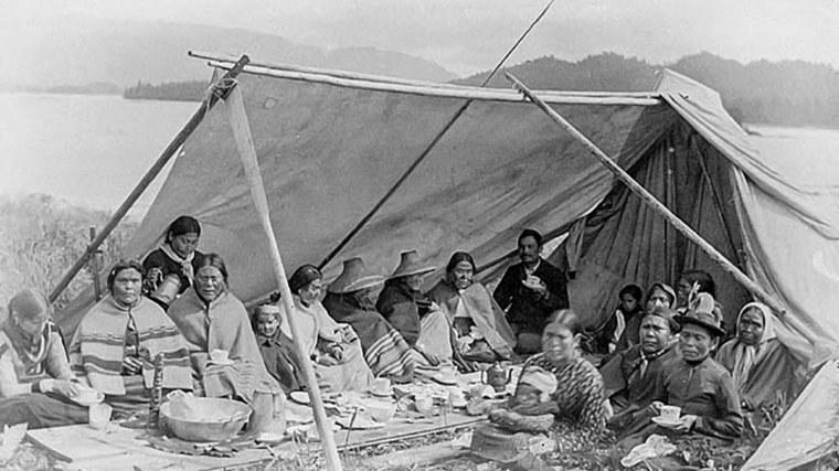 tienda de campaña indígena