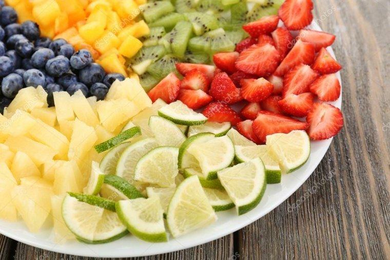 frutas troceadas