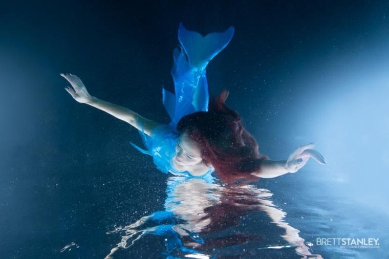 Brett Stanley sirena buceando
