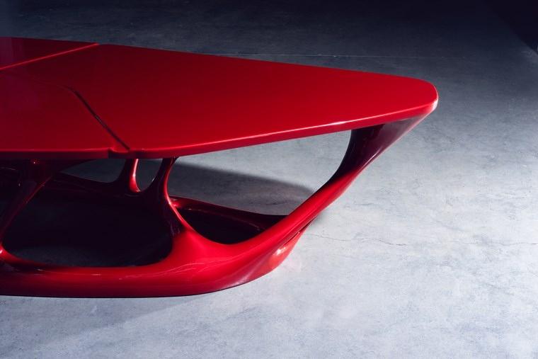 La mesa 3D de cerca