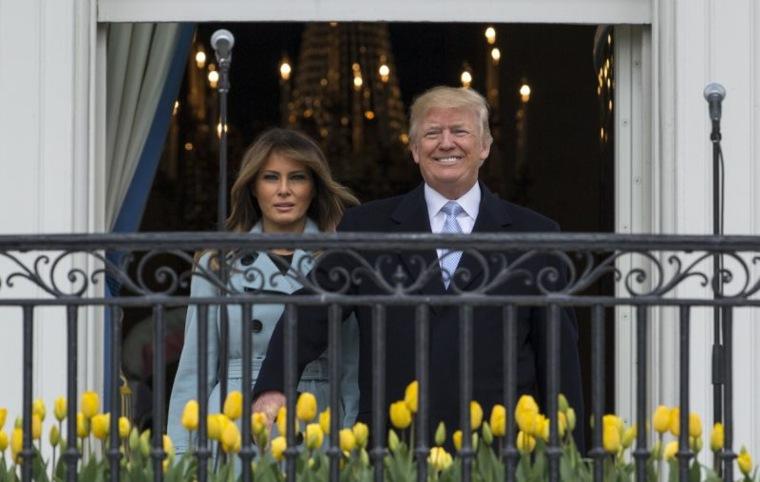 Trump en la casa blanca