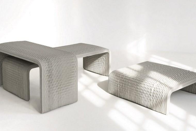 Bancos de hormigon impresos en 3D
