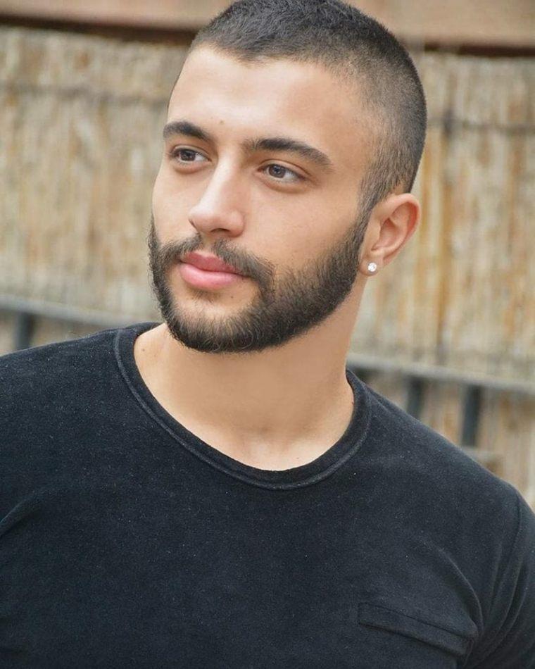 barba estilo de tres días