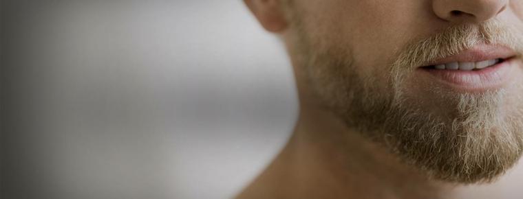 barba rubia corta