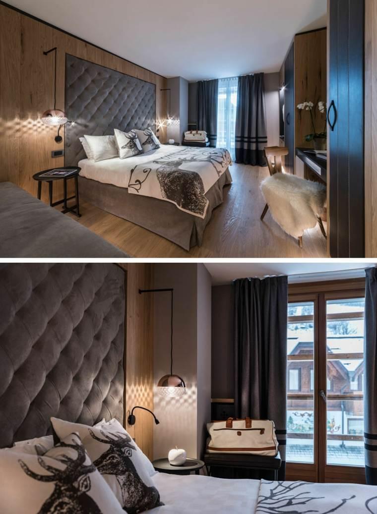 cabeceras modernas en dormitorio