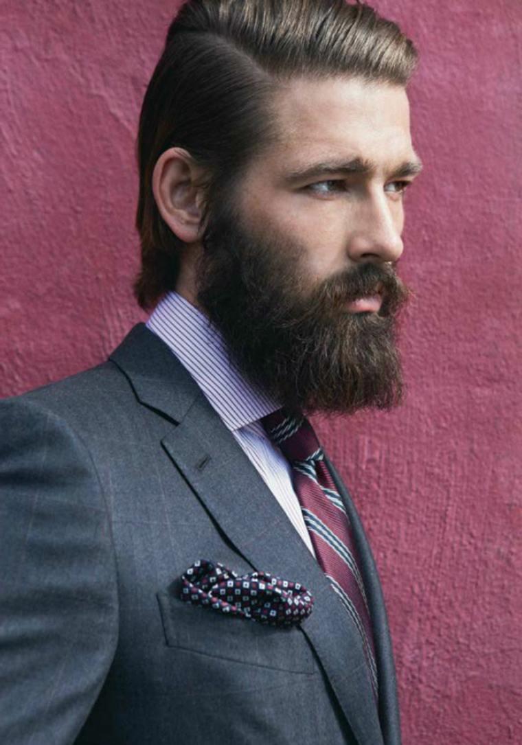 cabello-pompadour-barba-elegante