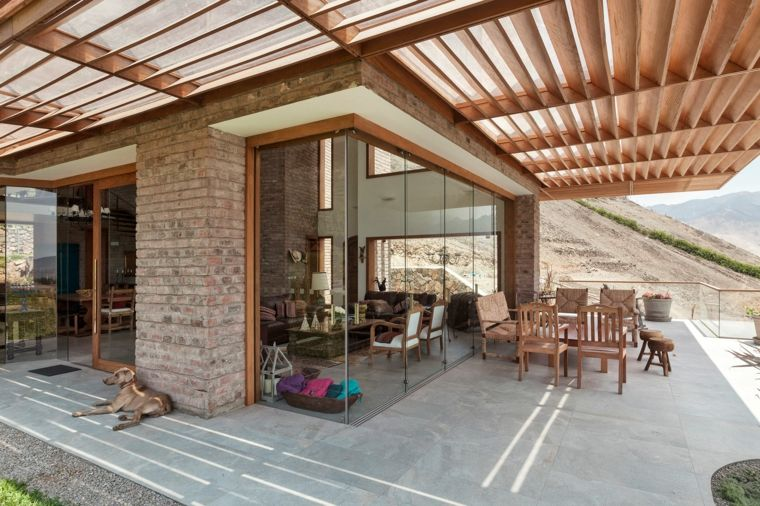 casa con jardín-casa-pergola-opciones-estilo
