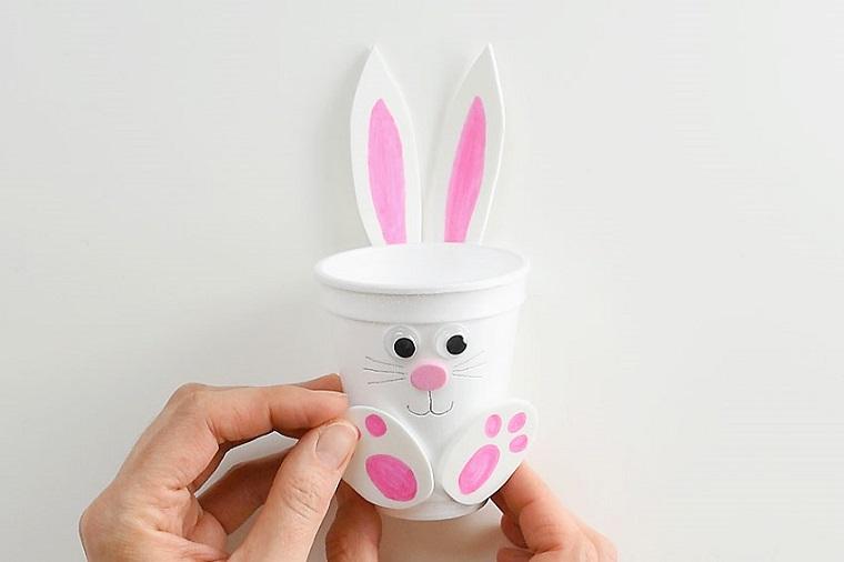 conejos-vasos-blancos-ideas-manualidades