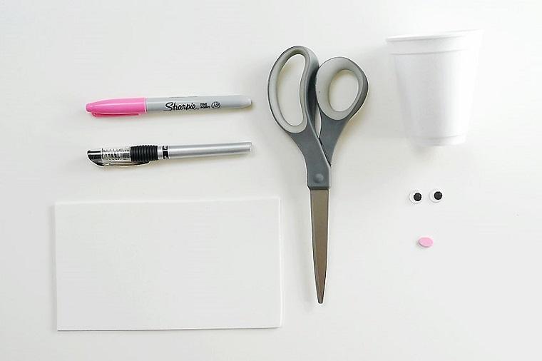 conejos-vasos-blancos-ideas-materiales