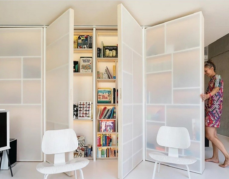 decoracion-loft-casco-Amsterdam-superloft-FABRICations-Marc-Koehler-Architectes-biblioteca