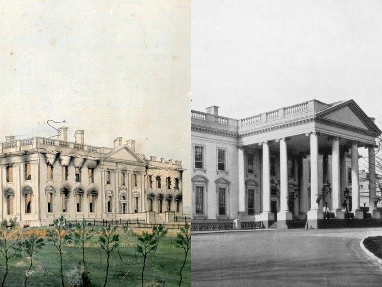 edificios famosos-reconstruccion-casa-blanca