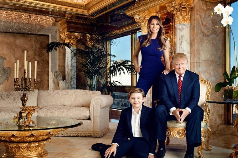el-presidente Trump y familia
