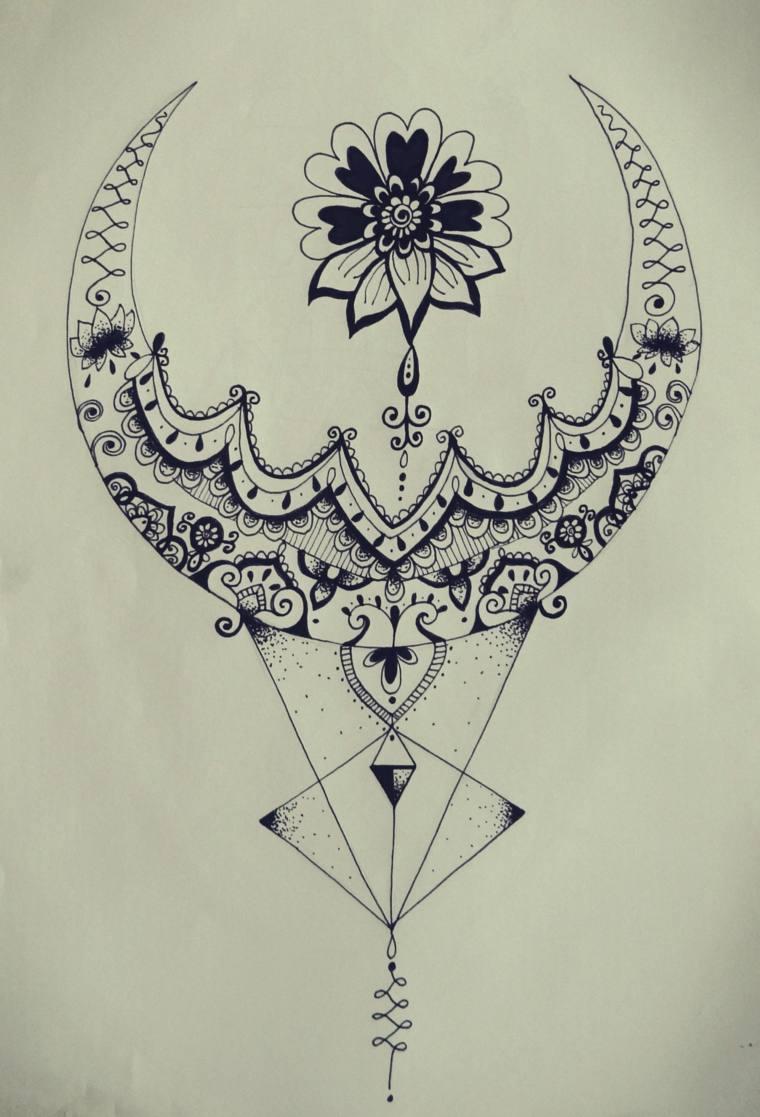 flor-luna-mandala-tatuaje