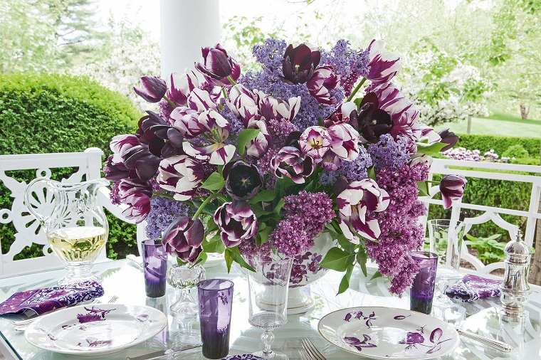 flores-purpura-decorar-mesa