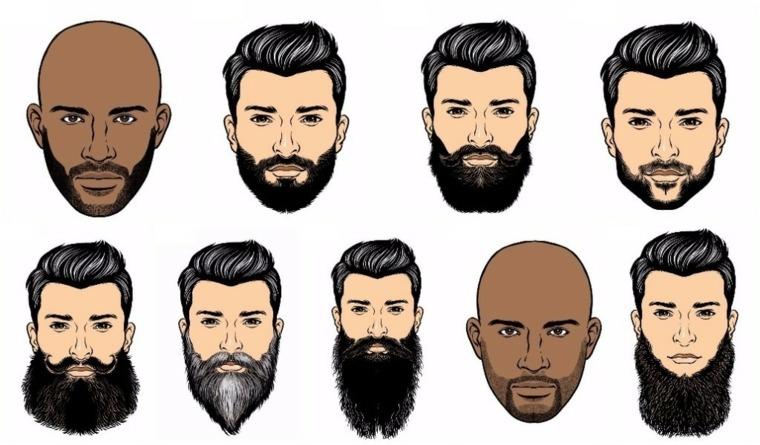 formas variadas de barbas