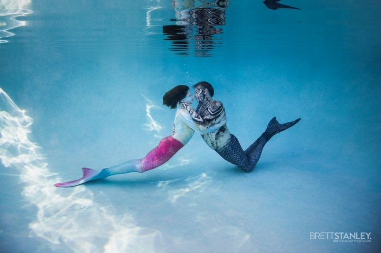 fotografía submarina sirenas