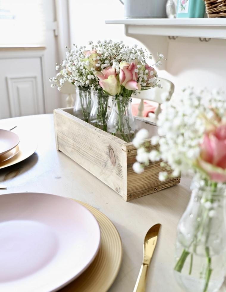 fotos-de-ramos-de-flores-caja-madera-exponer-mesa