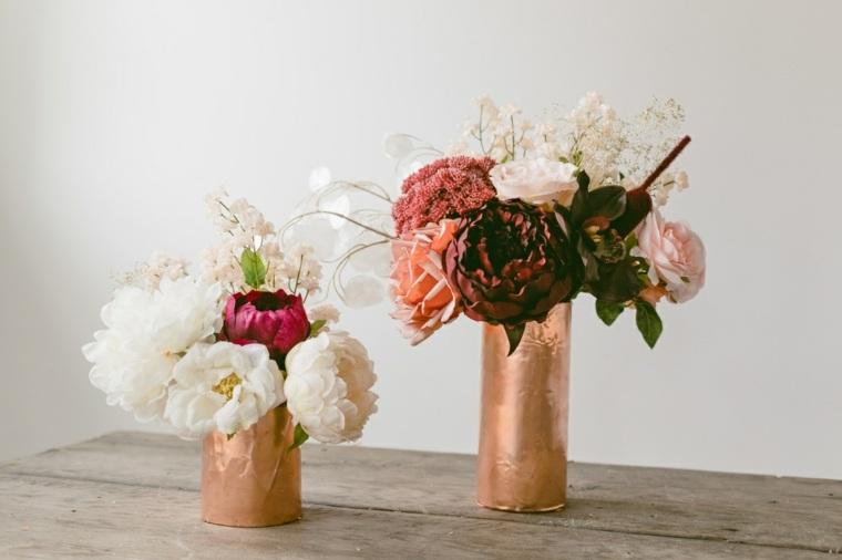 fotos-de-ramos-de-flores-jarrones-papel-cobre