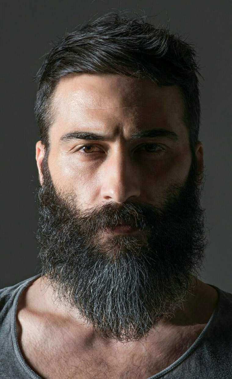 hombre con barba gris