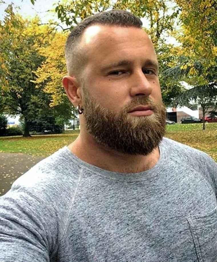 hombres con barbas