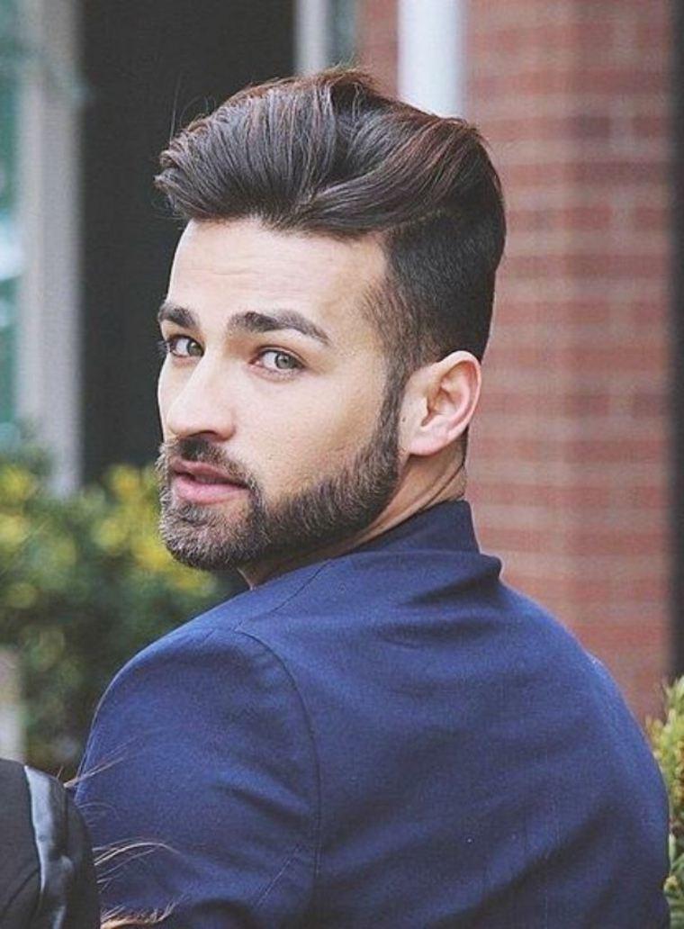 hombres modernos con barba
