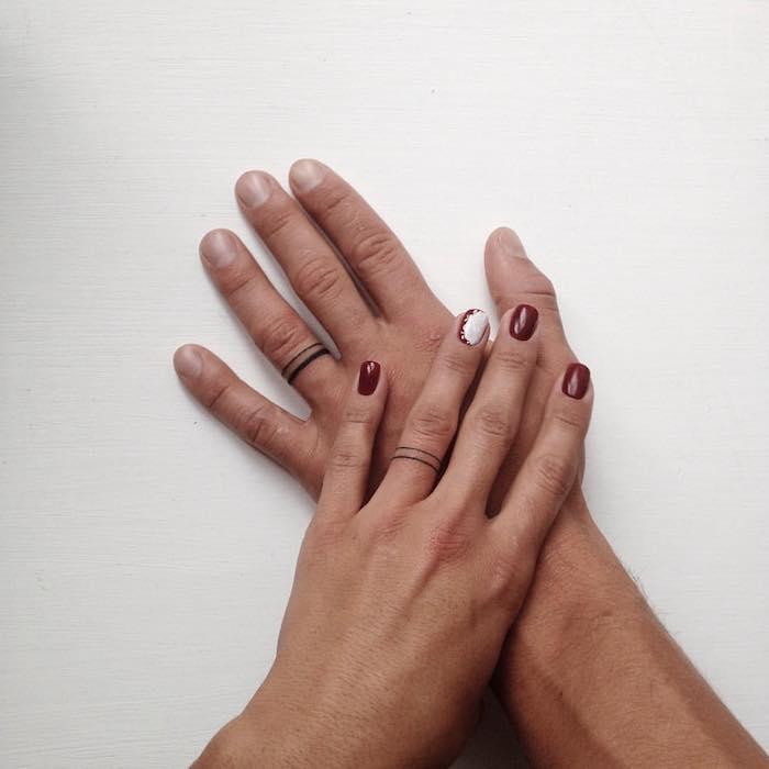 imágenes de tatuajes pequeños-anillos-ideas