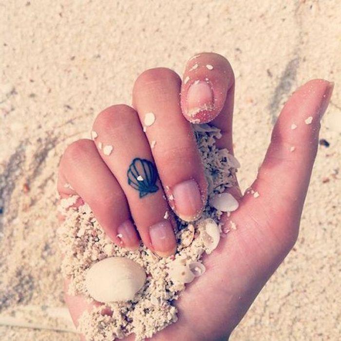 imágenes de tatuajes pequeños-concha