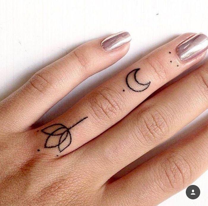 luna-tulipan-flor-diseno-tattoo-pequeno