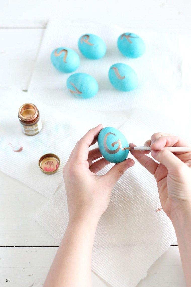 manualidades de pascua-pintar-huevos