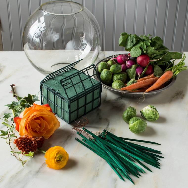 manualidades-de-primavera-centro-mesa-materiales