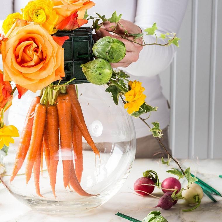 manualidades-de-primavera-centro-mesa-zanahorias