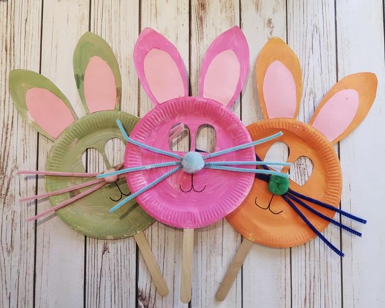 mascaras conejos pascua