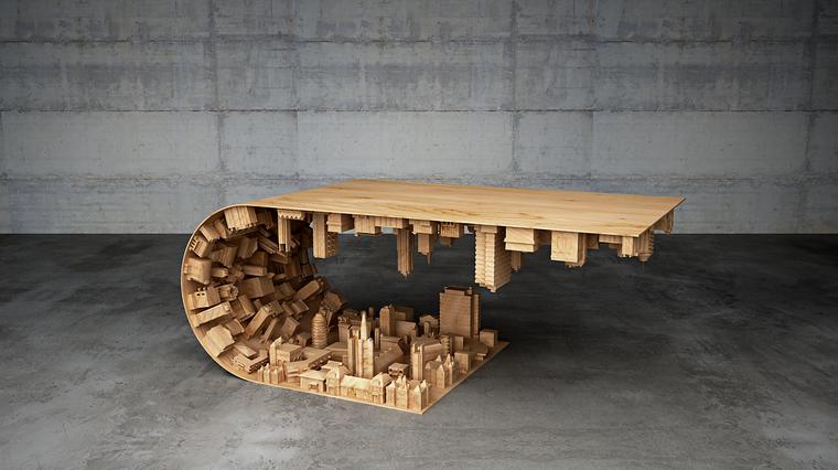Mesa de reuniones impresa 3D
