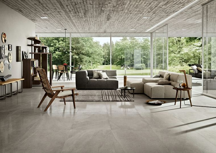 piso de mármol gris
