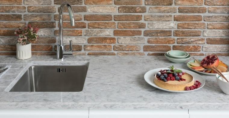 superficie de cocina de piedra