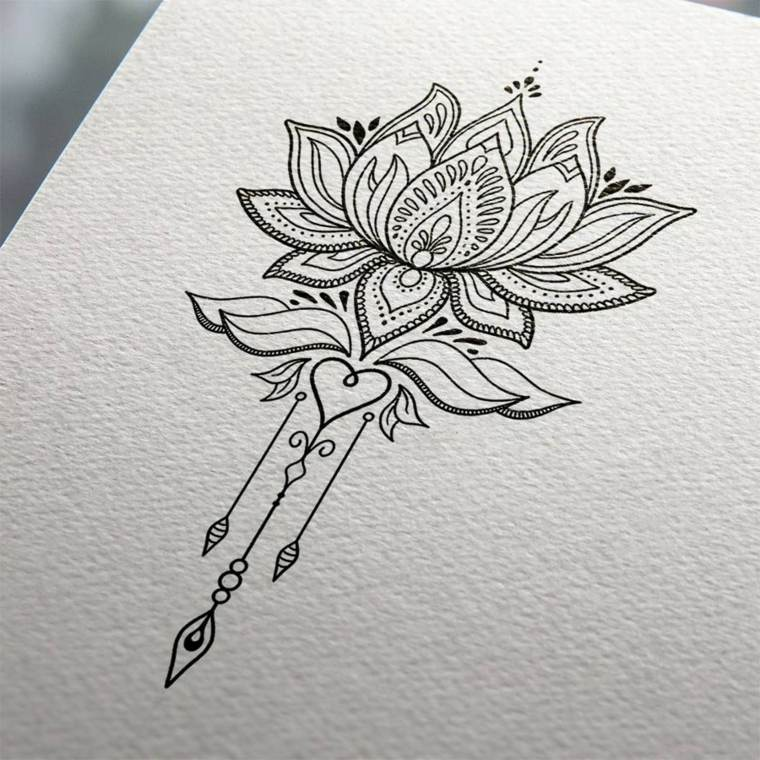 tattoo-mandala-diseno-flor-loto-corazon