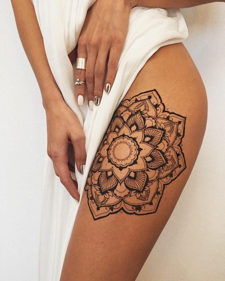 tattoo-mandala-disenos-pierna-mujer