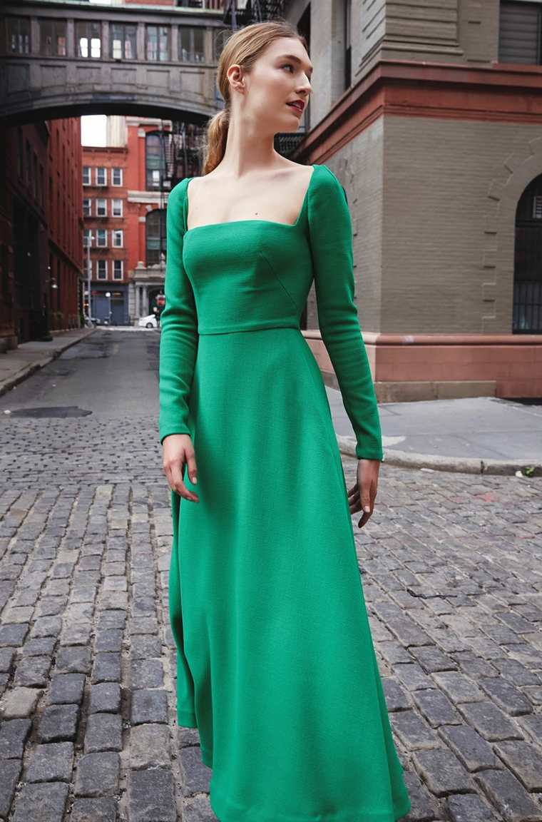 tendencias 2019 vestido verde
