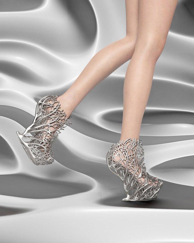 impresionantes zapatos impresos en 3d